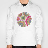 funky Hoodies featuring Funky flowers by Shelly Bremmer