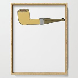 Pipe Smoking T-Shirt For Pipe Smoker Would you like to smoke it? Serving Tray