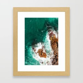 Green Wash Framed Art Print
