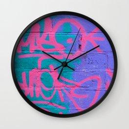 Graffiti Style Street Art - by Dominic Joyce Wall Clock