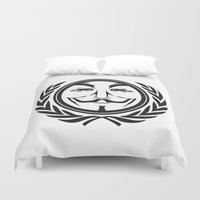 community Duvet Covers featuring Anonymous community by Komrod