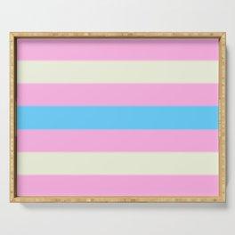 Transgender Pride Flag v2 Serving Tray