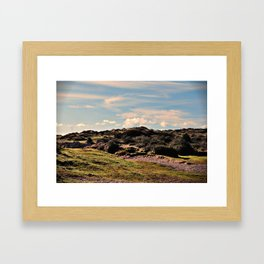 Down in the burrows Framed Art Print