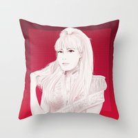2ne1 Throw Pillows featuring BOM by Das The Creator