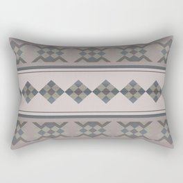 ETHNO PATTERN Folk | brown Rectangular Pillow