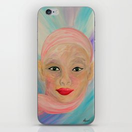 Bald is Beauty with Green Eyes iPhone Skin