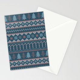 Chistmas Sweater in Blue Stationery Cards