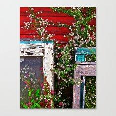 Window Flowers Canvas Print
