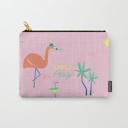 Pink-Flamingo Carry-All Pouch