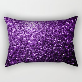 Beautiful Dark Purple glitter sparkles Rectangular Pillow