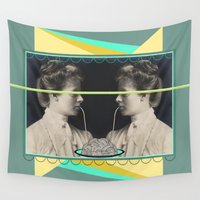 pasta Wall Tapestries featuring Ladies without the Tramp  by AmDuf