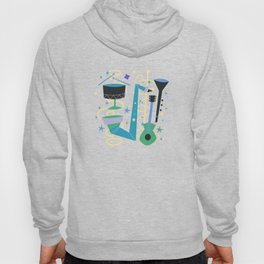Midcentury Modern Fifties Jazz Composition Hoody