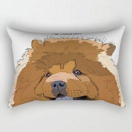 Bitch Please. I'm Fabulous. Chow Chow Dog. Rectangular Pillow