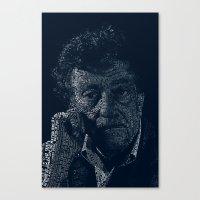 kurt vonnegut Canvas Prints featuring Kurt Vonnegut Typographic Print by Bookish Prints