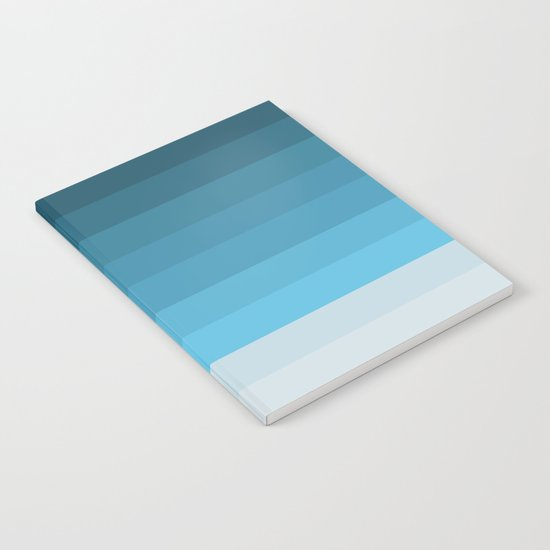 Blue Lagoon stripes pattern Notebook
