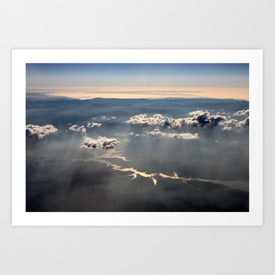 between Sky and Earth Art Print