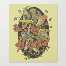 Robins and Warblers Canvas Print