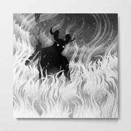 Drawlloween 2014: Devil Metal Print