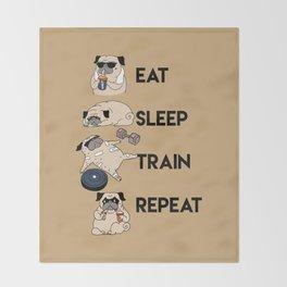 Eat Sleep Train Repeat Throw Blanket