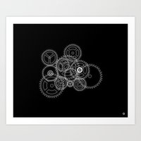 gears of war Art Prints featuring Gears by Manonut