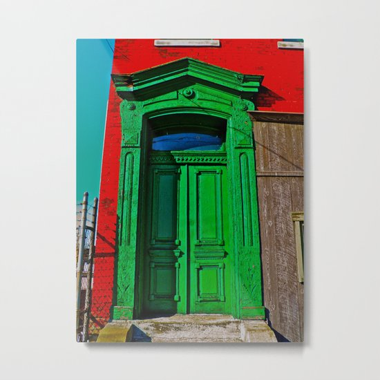 The Old Green Door  Metal Print