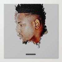 kendrick lamar Canvas Prints featuring Kendrick Lamar by rubenrodriguezinc