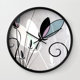 Flower arrangement II Wall Clock