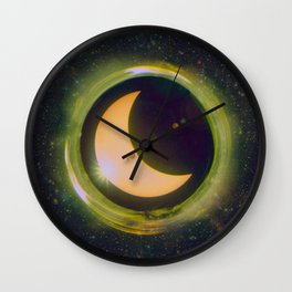 Space Eclipse Wall Clock