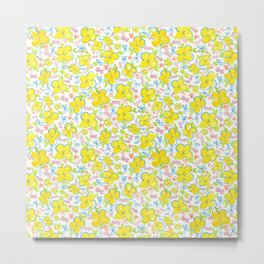 March floral garden pattren design (yellow) Metal Print
