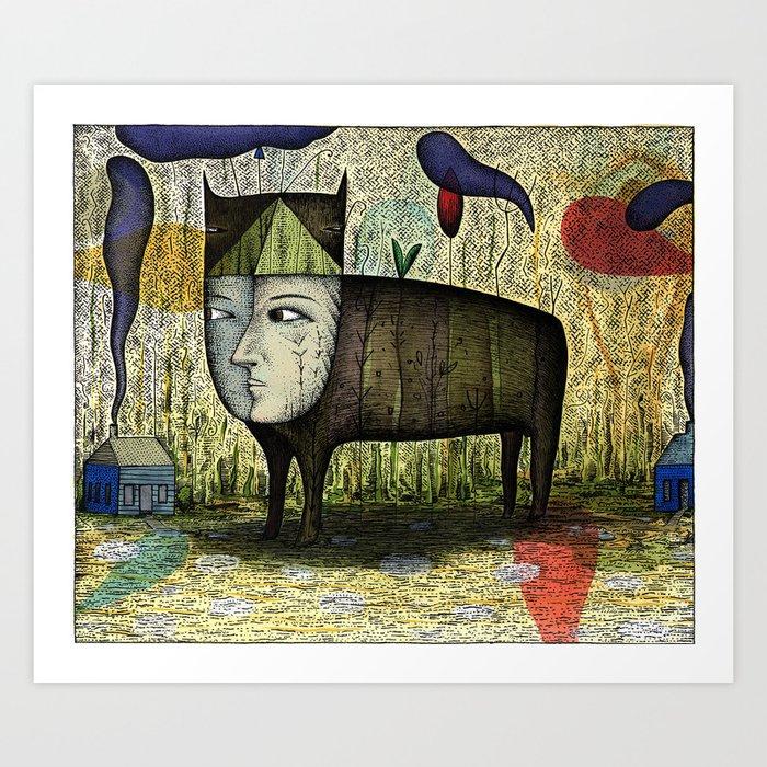 The Phantom Beast of Summer Art Print