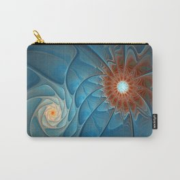 Together, Abstract Fantasy Fractal Art Carry-All Pouch
