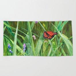 Signs of Summer by Teresa Thompson Beach Towel