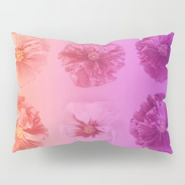 Purple Gradient Flower Grid Pillow Sham