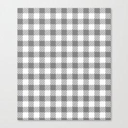 Grey Vichy Canvas Print