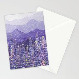 Purple Mountain Rain Stationery Cards