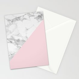 Marble + Pastel Pink Stationery Cards