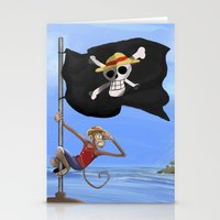 luffy Stationery Cards featuring Monkey D Luffy by Laércio Messias