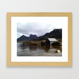 Boatshed Cradle Framed Art Print