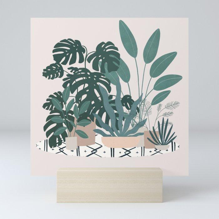 houseplant gang Mini Art Print