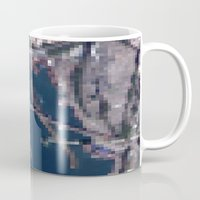 hong kong Mugs featuring Hong Kong  by Mark John Grant