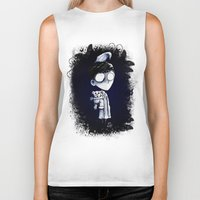 bed Biker Tanks featuring Bed Time by artlandofme