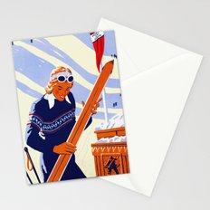 Yosemite Winter Sports Travel Stationery Cards