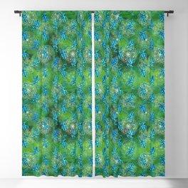 Watercolor Poison Dart Frogs Mandalas Pattern Blackout Curtain