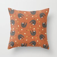 sloths Throw Pillows featuring Sleepy Sloths by Marzipress