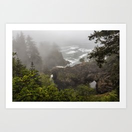 Fog Over Natural Bridges Art Print