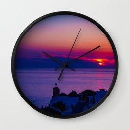 Oia  sunset Wall Clock