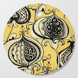 Black and Yellow Floral Cutting Board