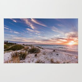 Semaphore Beach Sunset Rug