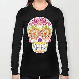 Psychedelic Sugar Skull (Polychromasia) Long Sleeve T-shirt