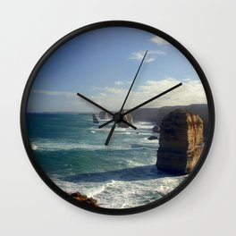 Rock Stacks & Gigantic Mainland Cliffs Wall Clock